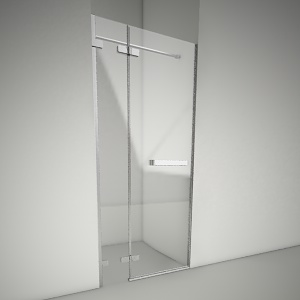 free 3d models - Door next with railing next 90L