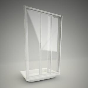 Shower doors and walls free 3d models free 3d base for Door 3d model