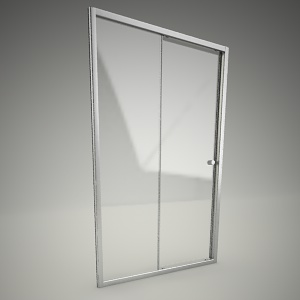 free 3d models - Shower door fitst 120