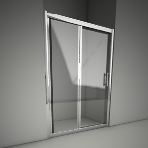 free 3d models - Sliding shower doors geo 6 120
