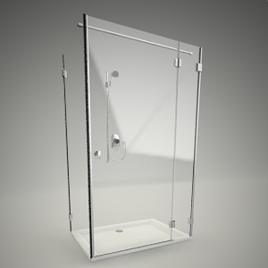 shower doors and walls free 3d models free 3d base