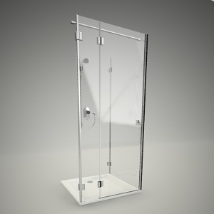 free 3d models - Shower door niven 90 L