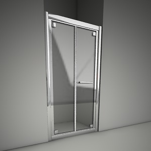 free 3d models - Frameless door geo bifold 90