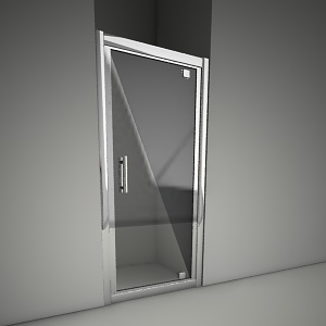 free 3d models - Frameless door geo pivot 80
