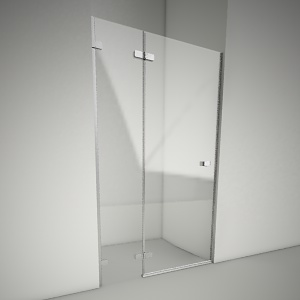 Frameless shower door next 120L