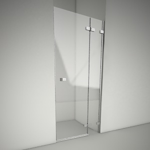 free 3d models - Frameless shower door next 90P