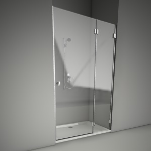 Frameless shower door niven 120P