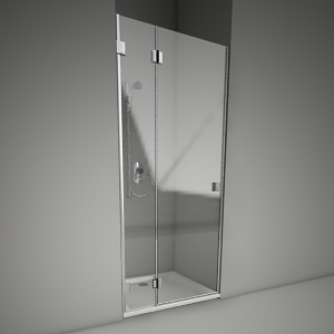 free 3d models - Frameless shower door niven 90L