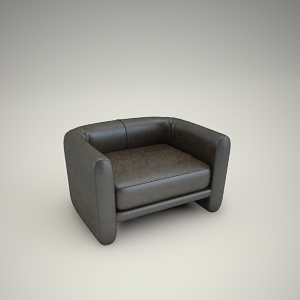 free 3d models - Armchair free 3d model 2