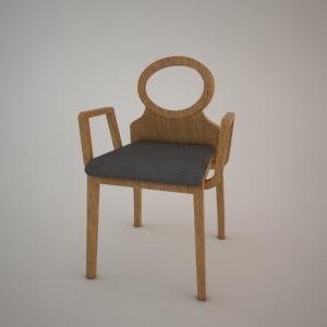 Armrest Chair B 1202 3d Model Modern Fameg Free 3d