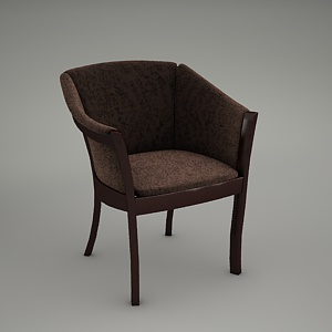 free 3d models - armchair 3d model - CLASSIC B-9744