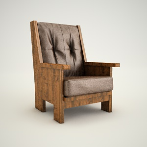free 3d models - Armchair ludwik 1 3d model