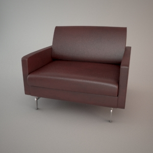 Armchair 3d model - BLUES CARTER 1,5