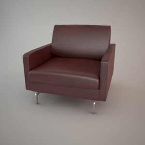 Armchair 3d model - BLUES CARTER 1