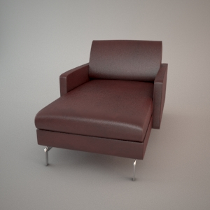 Armchair 3d model - BLUES CARTER CHL75