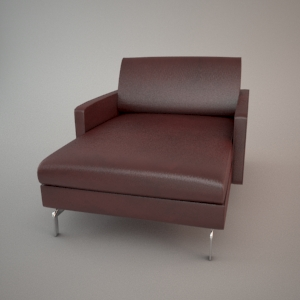 free 3d models - Armchair 3d model - BLUES CARTER CHL90