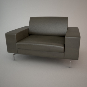 free 3d models - Armchair 3d model - BLUES MEMPHIS 1,5