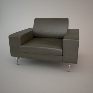 Armchair 3d model - BLUES MEMPHIS 1