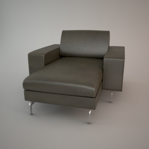 Armchair 3d model - BLUES MEMPHIS CHL75