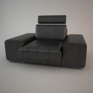 Armchair 3d model - HAVANA 1,5 ZAG
