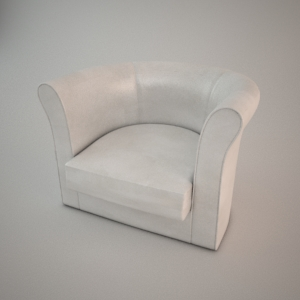 Armchair 3d model - LEEDS