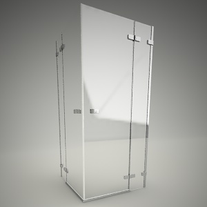 free 3d models - Square shower cabin next 90