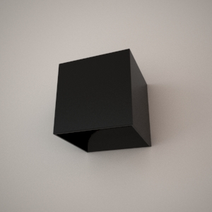 Wall lamp 3D model - UNO
