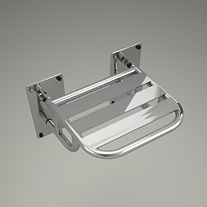 free 3d models - shower seat 3d model