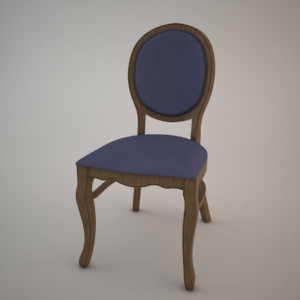 Chair A-9702-1 3D model FAMEG CLASSIC