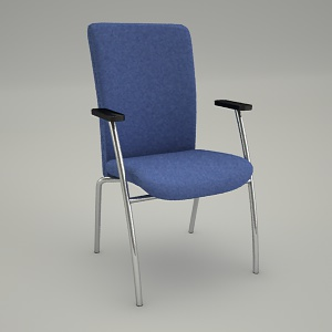 free 3d models - Conference armchair PARTNET PT 220