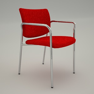 Conference armchair 3d model - ZIP 220