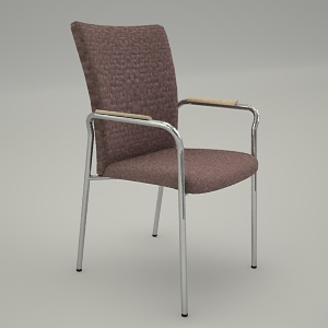 Conference armchair 3d model - ZIP 22H