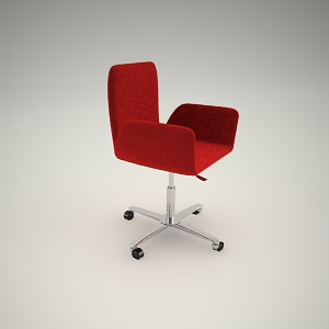 Swivel chair free 3d model 1