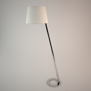 Floor lamp 3D model - OLSEN