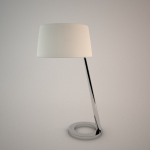 Table lamp 3D model - OLSEN