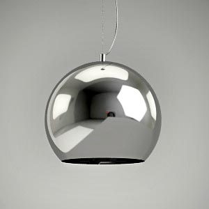 free 3d models - pendant lamp 3d model MIRROR SILVER 2