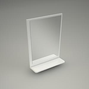 Mirror domino 70cm ko o free 3d models free 3d base for Mirror 3d model