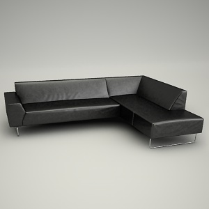 free 3d models - Sofa corner Valmont 3d - all collection