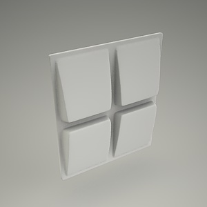 free 3d models - Wall panel 3d DAVE
