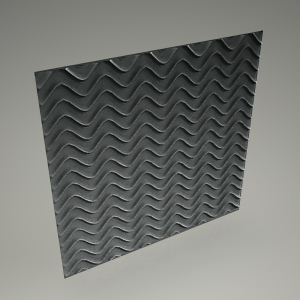 free 3d models - Wall panel 3d GROOVE