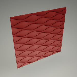 free 3d models - Wall panel 3d HOURGLASS