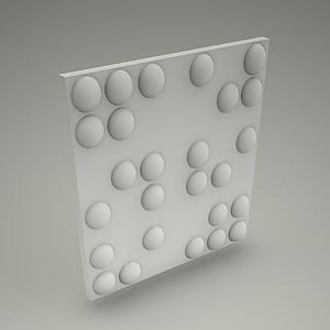 free 3d models - Wall panel 3d MORTIS