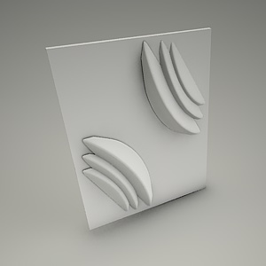 free 3d models - Wall panel 3d ROSE