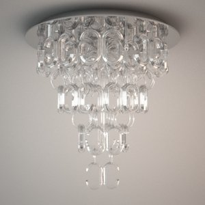 Ceiling Lamp 3d Model Bellagio Maxlight Free 3d