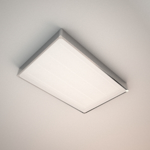 Ceiling lamp 3d model - BIGGY OBLONG