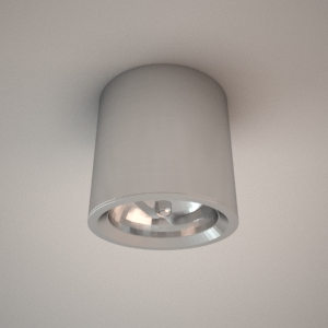 Ceiling lamp 3d model - FORM II