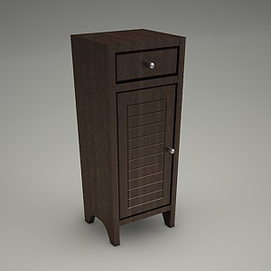 side cabinet 3d model - MOCCA