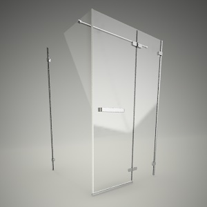 Wall_swing shower door next 120P