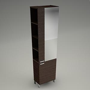 tall cabinet 3d model - FRIDA - Cersanit - Free 3d models - Free 3D Base