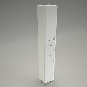 tall cabinet 3d model MADEA with basket